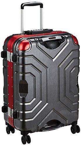 [シフレ] スーツケース グリップマスター 52L 5.1kg ダブルキャスター コーナーパッド 保証付 52L 66cm 5.1kg B5225T-58 ヘアラインBK/RD ヘアラインBK/RD