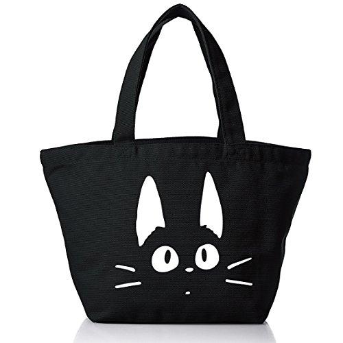 ランチトートバッグ 黒猫 クロネコ D