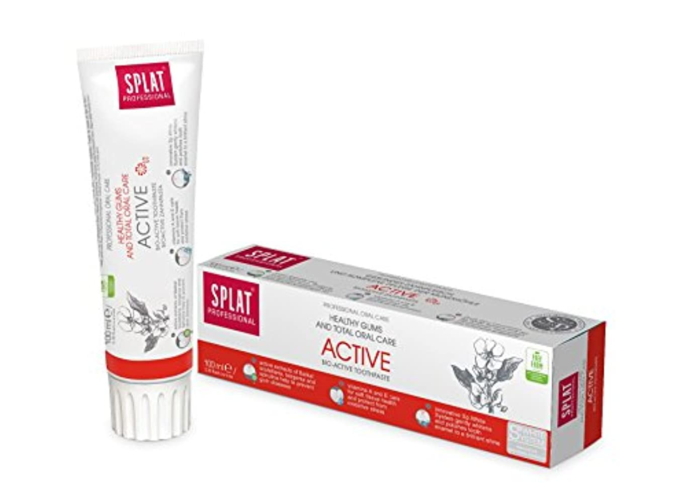 校長スケルトンバッチToothpaste Splat Professional 100ml (Active)