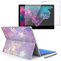 Surface pro6 pro5 pro4 専用スキンシール ガラスフィルム セット 液晶保護 フィルム ステッカー アクセサリー 保護 ラグジュアリー 星 模様 スター 006978