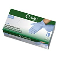 Curad Nitrile Exam Glove, Powder-Free, Large, 150/Box