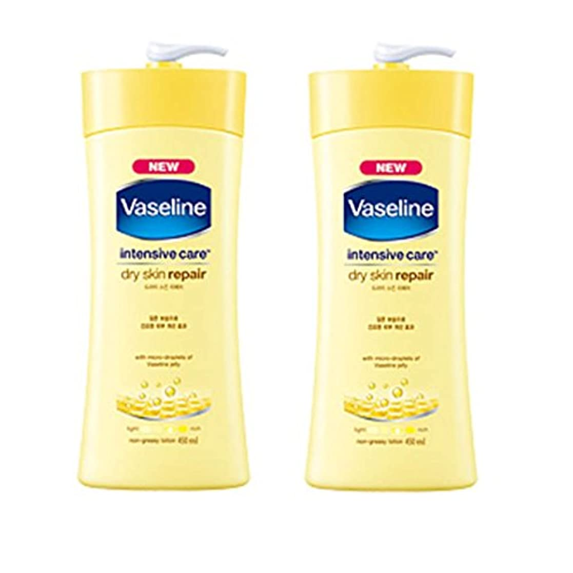 うるさいバッチロマンチックヴァセリン インテンシブケア ドライスキン リペアローション(Vaseline Intensive Care Dry Skin Repair Lotion) 450ml X 2個 [並行輸入品]