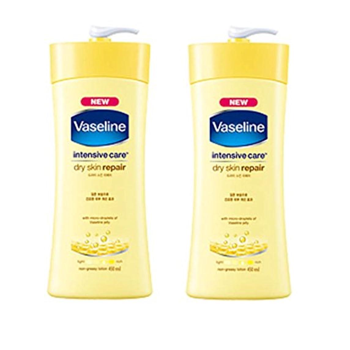 ショッピングセンター不機嫌給料ヴァセリン インテンシブケア ドライスキン リペアローション(Vaseline Intensive Care Dry Skin Repair Lotion) 450ml X 2個 [並行輸入品]