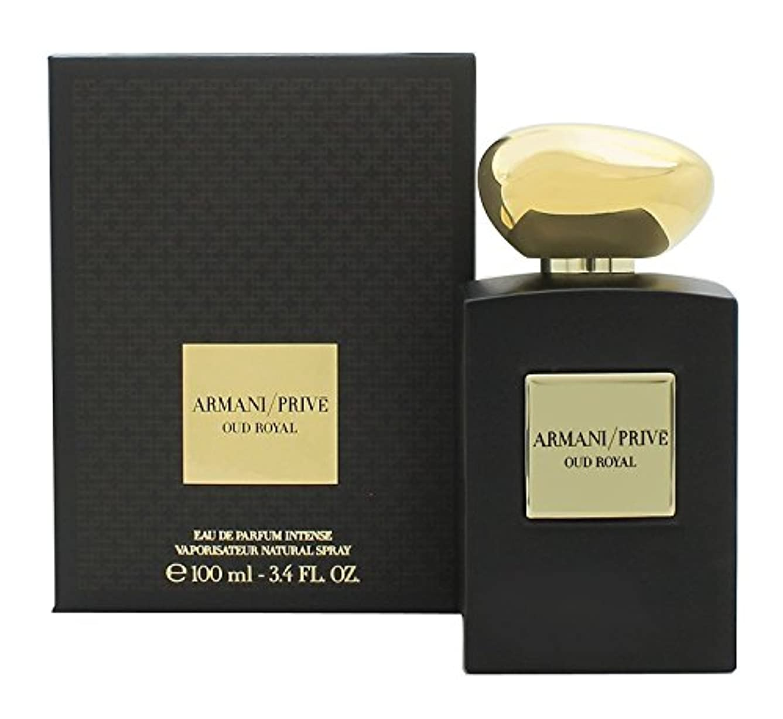 特権肯定的責めジョルジオアルマーニ Prive Oud Royal Eau De Parfum Intense Spray 100ml/3.4oz並行輸入品