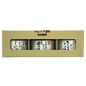 タケサン 小豆島で炊いた3本セット(瓶入り佃煮3本入)