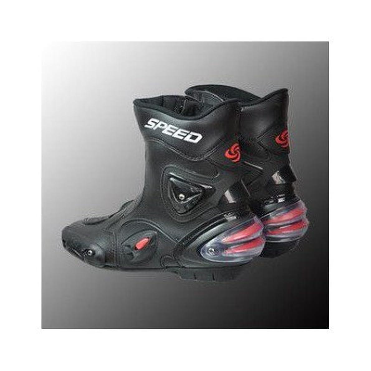 よろしくスリチンモイ補助金AJK レーシングブーツロングプロテクターブーツバイクシューズレーシングブーツ/最新モデル/Black SIZE45/約28.5cm|1070|