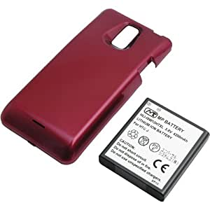 PDA工房 【PSE認証済】 標準バッテリーの約2.3倍の大容量(4200mAh) 超大容量バッテリーパック HTC J ISW13HT(レッド)