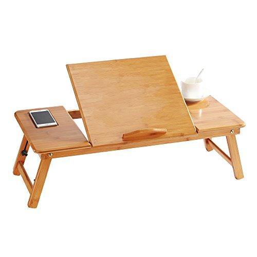 OGORI 折りたたみ ローテーブル 天然木製 竹繊維 ノー...