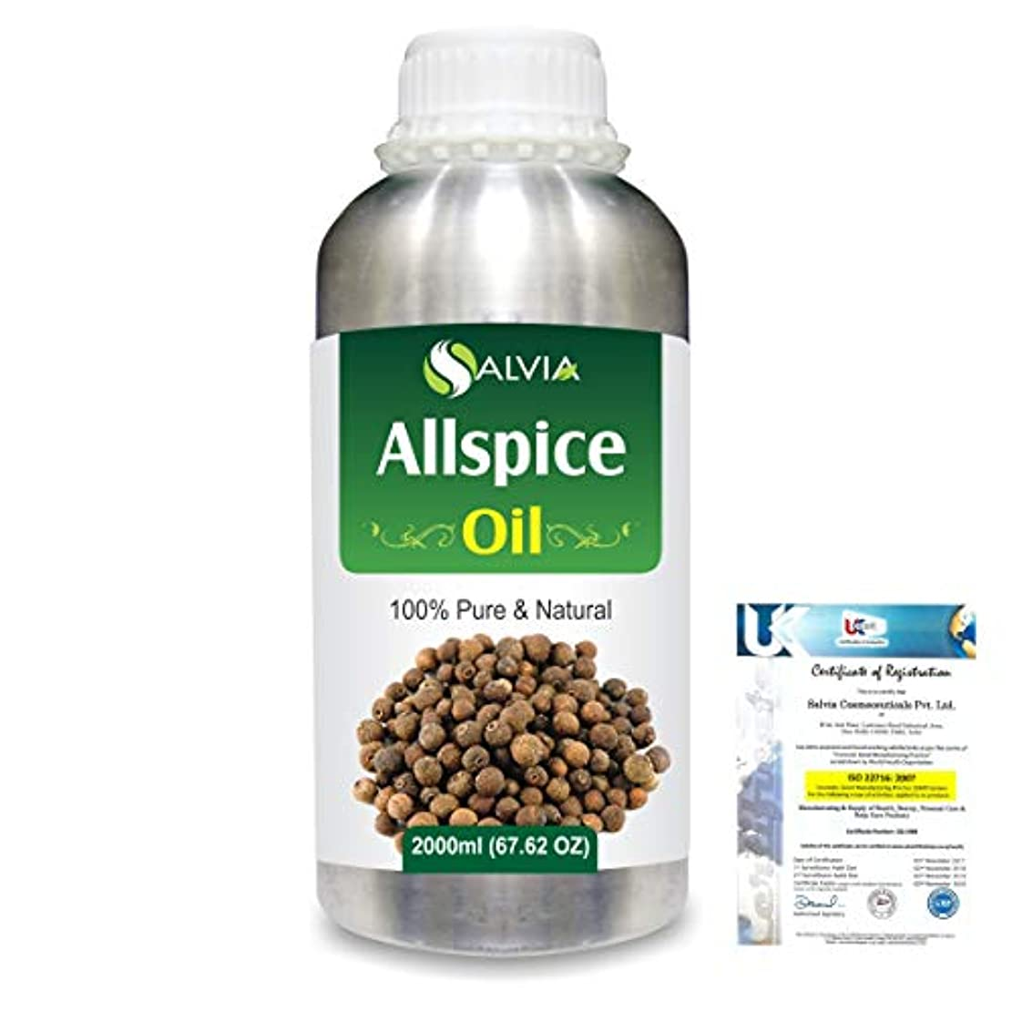 規定方法論気楽なAllspice (Pimenta officinalis) 100% Natural Pure Essential Oil 2000ml/67 fl.oz.