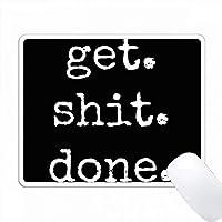 黒い背景に白いレターを書いてみましょう PC Mouse Pad パソコン マウスパッド