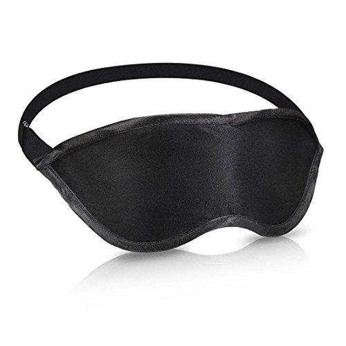 アイマスク Werocker 睡眠 安眠 快眠グッズ 軽量 睡眠アイテム 目の下の部分 二重構造 圧迫感なし 遮光性抜群 究極の柔らかシルク質感 通気性高い 旅行・出張に最適 収納袋付き フリーサイズ (ブラック)