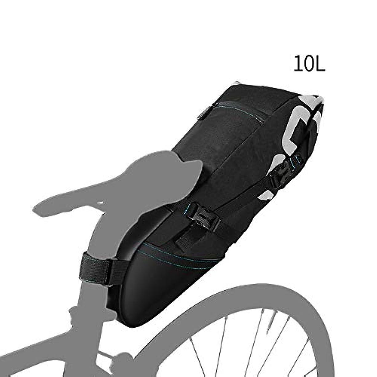 いつでもプラカードリラックス自転車バッグ自転車サドルテールシート収納バッグサイクリングリアパックパニエアクセサリー (Size : 10L)