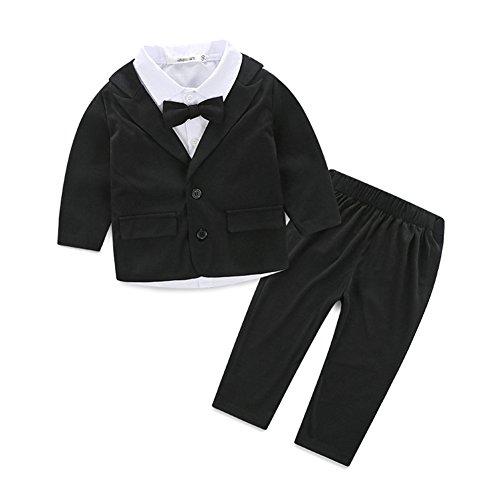 Yoyoshop ベビー キッズ フォーマル 長袖 男児 子供服 スーツ 七五三 入学式 卒業式 4点セット 90cm