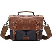 Neumora Minimalist Style Vintage Canvas Messenger Bag Shoulder Bag Men's Cross Body Satchel Bag for 14 ''Laptop