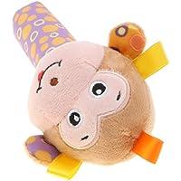 Perfk 全4色 ぬいぐるみ おもちゃ 教育玩具 子ども 贈り物 ラトル ベビーベッド装飾  - #4