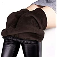 ForeMode Women Winter PU Skinny Leggings Warm Leather Pants with Inside Fur
