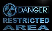 LED看板 ネオンプレート サイン 電飾・店舗看板・標識・サイン カフェ バー ADV PRO m666-b Danger Restricted Area Neon Light Sign