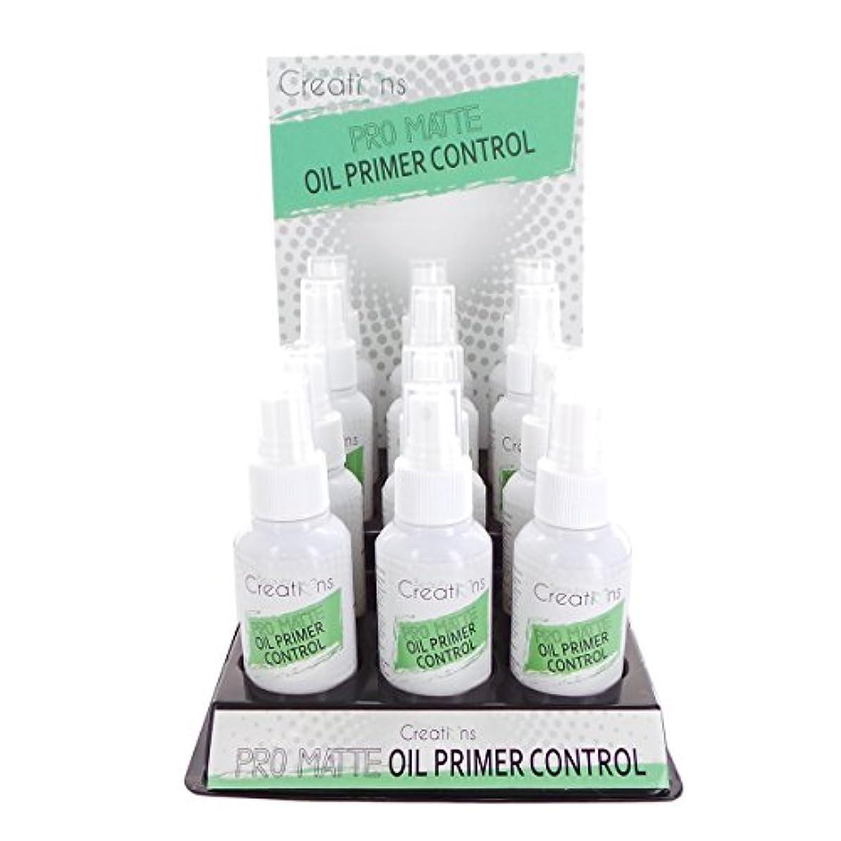瞑想護衛ペニーBEAUTY CREATIONS Pro Matte Oil Primer Control Spray Display Set, 12 Pieces (並行輸入品)