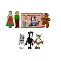 The Puppet PUC007907 Company The Gingerbread Boy Finger Puppets and Book Set (Pack of 7) [並行輸入品]