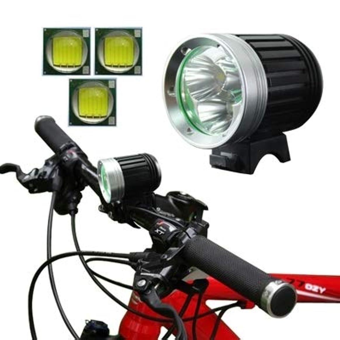 肌名声かわいらしいDSLSM ルーセントフラックス:1200lm、3x CREE XM-L T6 LEDトリッピング付き4モード自転車ランプ/ヘッドランプ