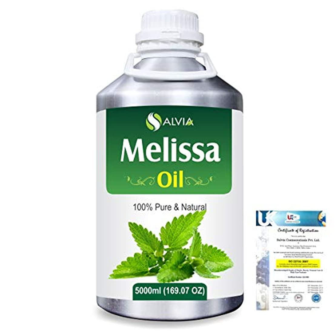 トースト滑り台羊飼いMelissa (Melissa officinalis) 100% Natural Pure Essential Oil 5000ml/169fl.oz.