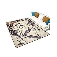 YIXINY カーペット シンプル リビングルーム カーペット 家庭 寝室 洗える ティーテーブル モダン 抽象 カーペット (色 : T4, サイズ さいず : 140x200cm)