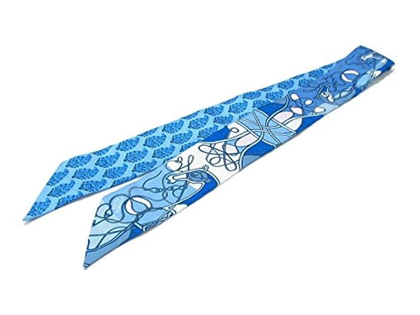 仲人接地使役[エルメス] HERMES トゥイリー スカーフ ブルー x ブラン ローズ (BLEU/BLANC/ROSE) シルク [並行輸入品]