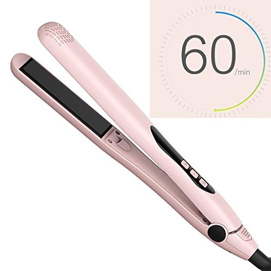 出発する刈る泣いているTXOZ すべての髪のタイプに合わせて温度を調整できる携帯型のストレートヘアアイロンとカーリングアイロンデジタルLCDモニター