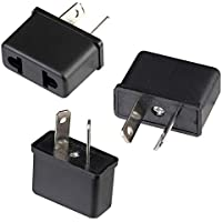 3Pcs Universal EU/US to AU NZ Power Plug Travel Adapter Converter 2 Flat Pin for Australia New Zealand