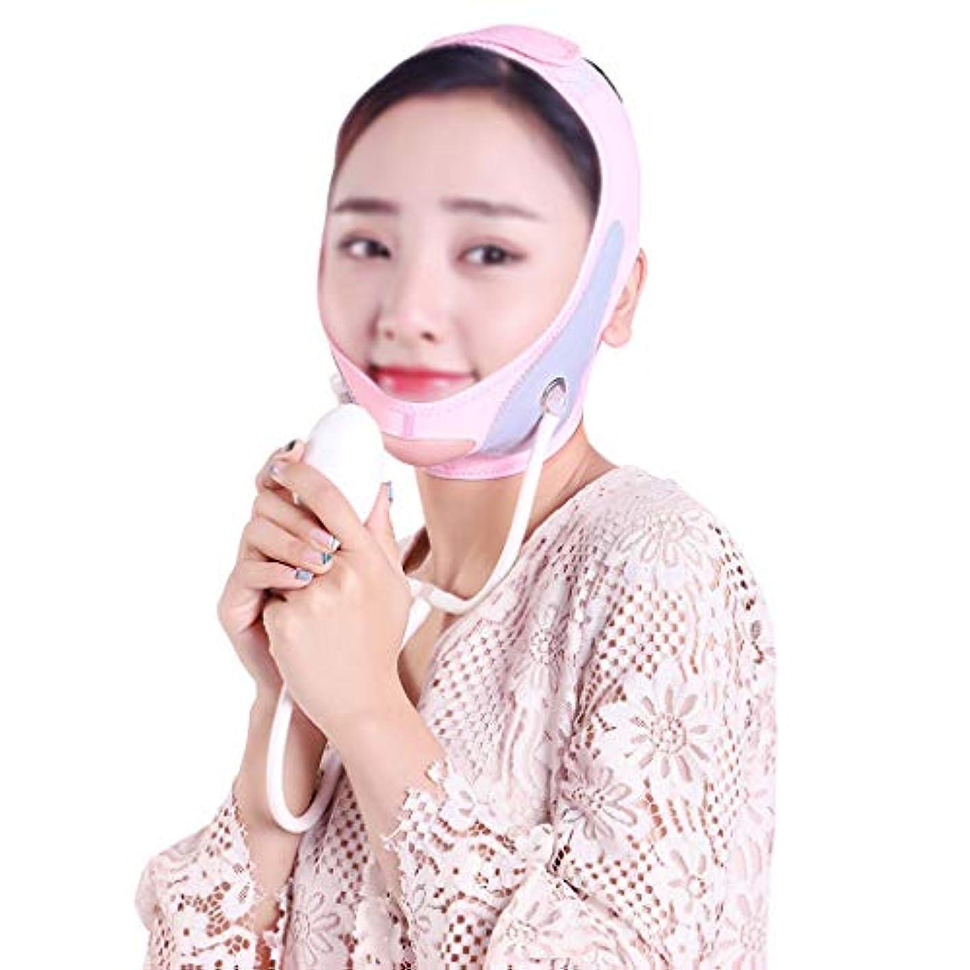 暴露する厳密にサミットGLJJQMY 膨脹可能なマスクは小さいVの表面を作成するために皮の形づけおよび引き締めパターン/二重あごの包帯の人工物を高めます 顔用整形マスク