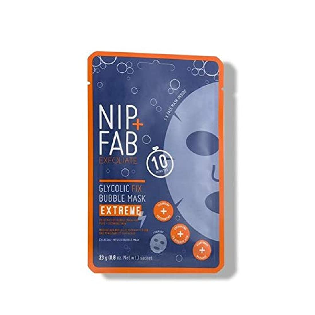 底バレエクリーナー[Nip & Fab] + Fabグリコール修正極端なバブルフェイスマスクニップ - Nip+Fab Glycolic Fix Extreme Bubble Face Mask [並行輸入品]