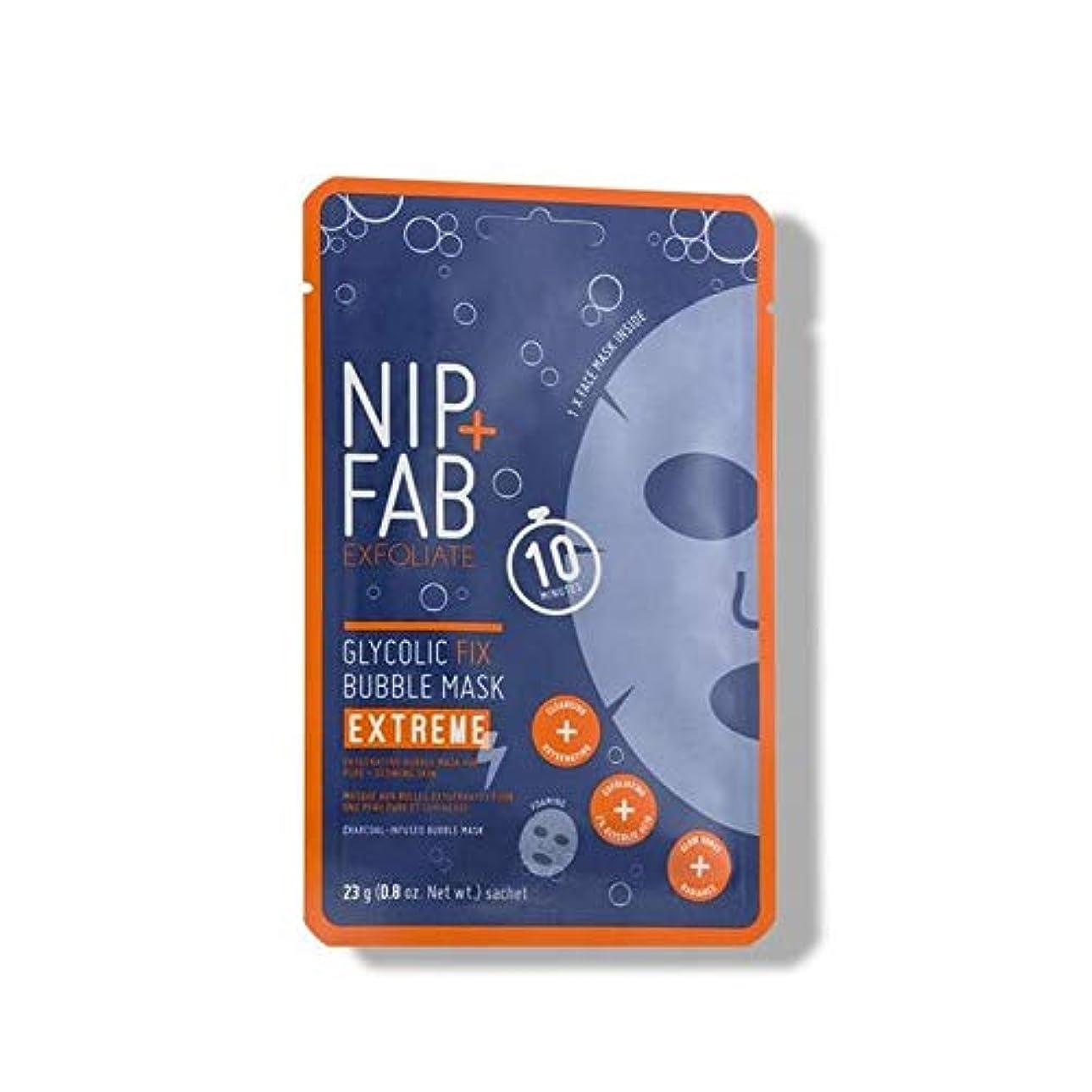 老朽化した姓ガム[Nip & Fab] + Fabグリコール修正極端なバブルフェイスマスクニップ - Nip+Fab Glycolic Fix Extreme Bubble Face Mask [並行輸入品]