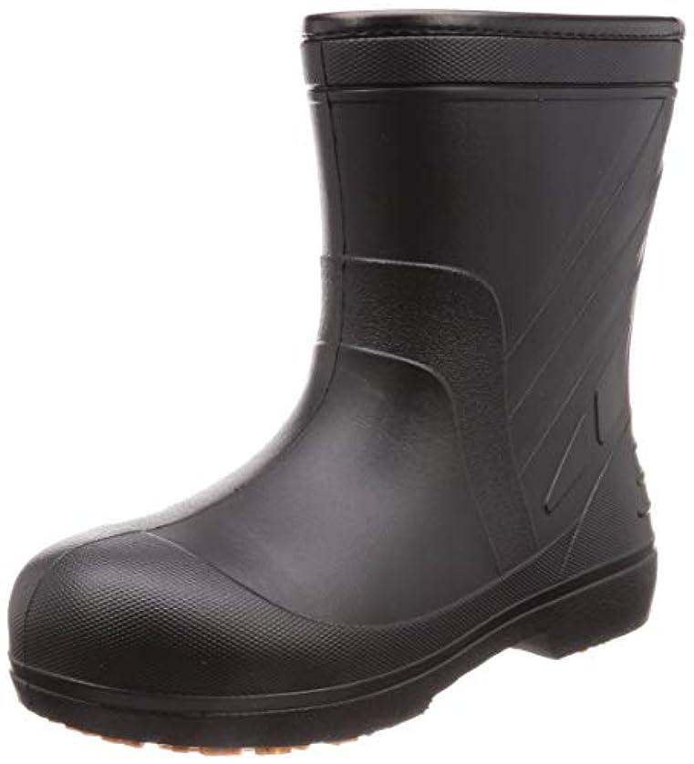 懐ソケットアクション[キタ] 安全長靴 作業長靴 メガセーフティ 超軽量&屈曲EVAラバーショート KR-7050 ブラック 25.5~26.0 cm