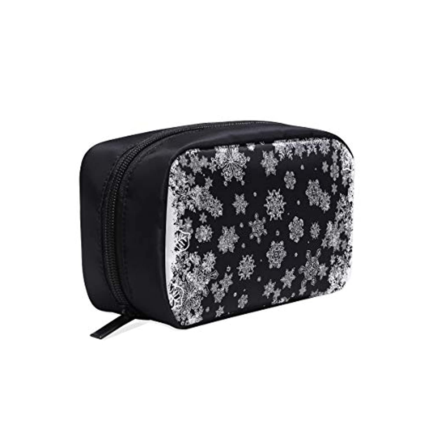 分離生きるうまれたGGSXD メイクポーチ 雪の花 ボックス コスメ収納 化粧品収納ケース 大容量 収納 化粧品入れ 化粧バッグ 旅行用 メイクブラシバッグ 化粧箱 持ち運び便利 プロ用