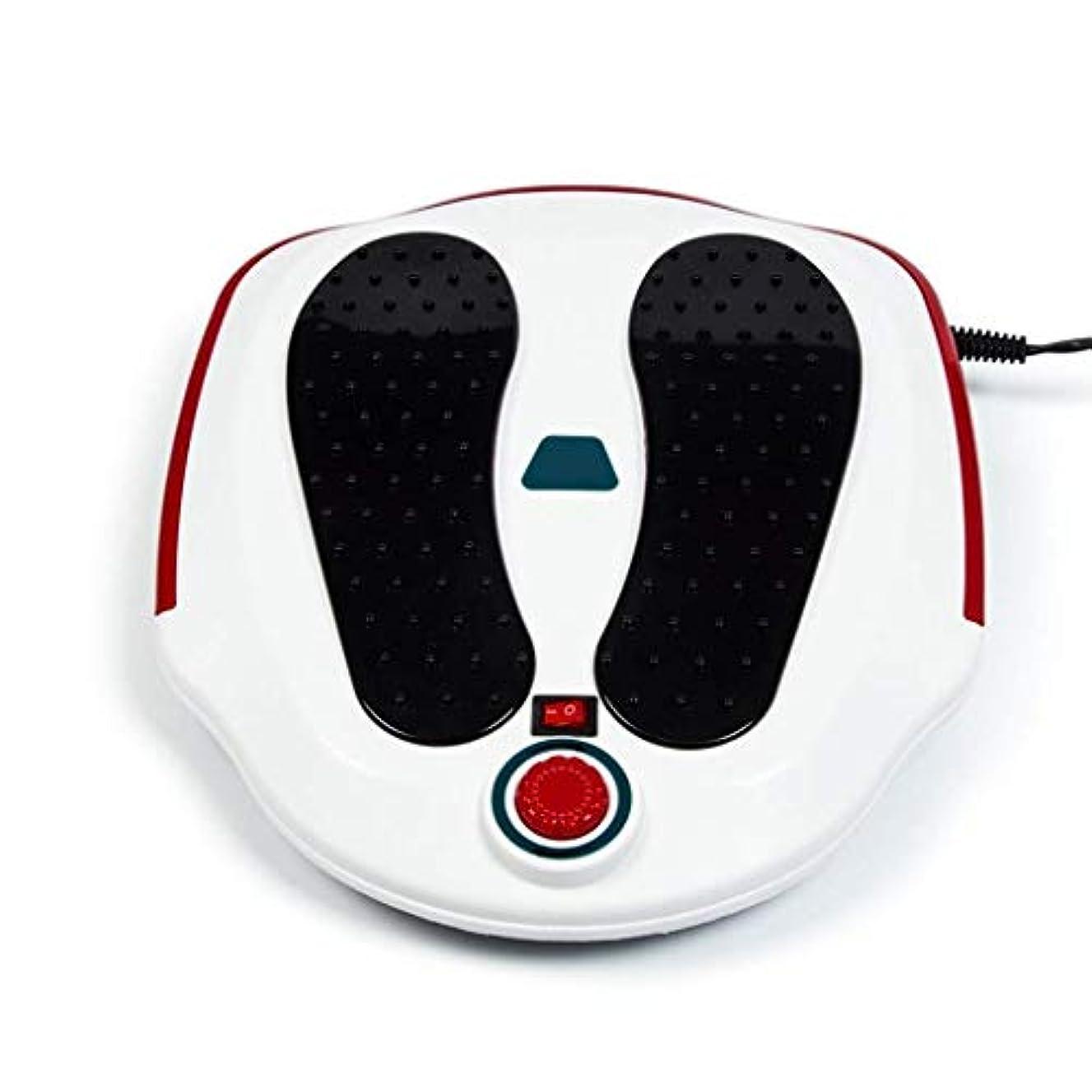 百万曲がったセクションスモールフットマッサージャー、電動足循環マッサージャー、足/ふくらはぎの脚の血液循環を促進し、フットマッサージポイント鍼治療リラクゼーション治療機器を加熱
