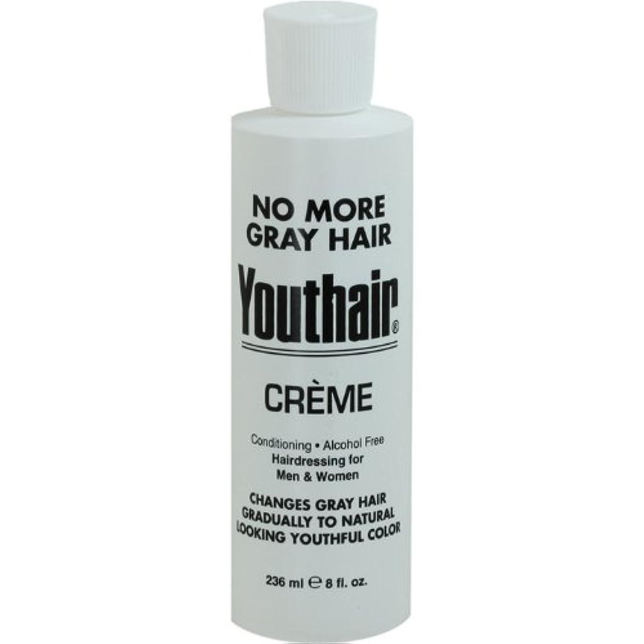 群集承認式Youthair Creme, Round Bottle, 8 Ounce by Youthair