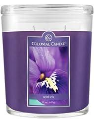 インラインコンテナCC022.2071 22オンスフレグランス。香りのオーバルキャンドル - ワイルドアイリス