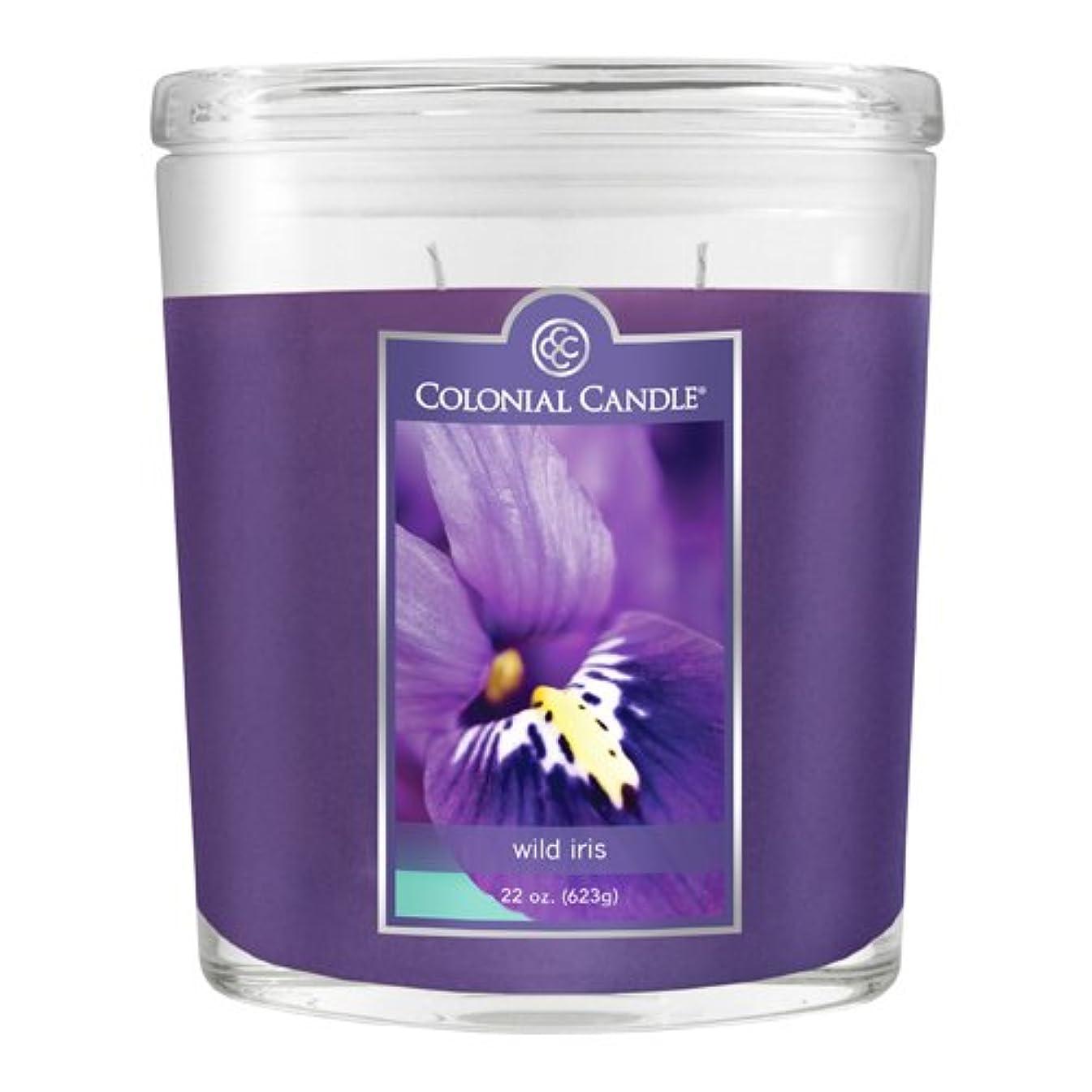 メーカーまっすぐ保持するインラインコンテナCC022.2071 22オンスフレグランス。香りのオーバルキャンドル - ワイルドアイリス