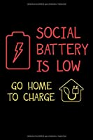 Notizbuch: Batterie Akku Niedrig Aufladen Soziales Netzwerk 120 Seiten, 6X9 (Ca. A5), Punktraster