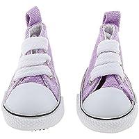 Baoblaze 素敵 1/6スケール レースアップ ハイトップ キャンバス シューズ 靴 BJD人形適用 ドール 付属品 おしゃれ 9色選べる  - 紫