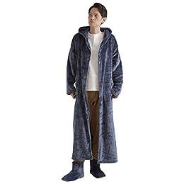 ナイスデイ 着る毛布 ネイビー Lサイズ mofua ヒートウォーム 発熱 +2℃ 60152307