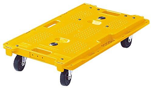オカムラ 樹脂製平台車 ミニキャリア67 縦横連結可能 ゴムキャスター マンゴーイエロー 1X271A-GE48