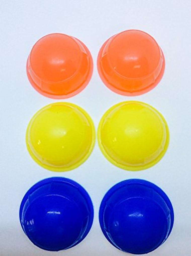 くびれたカッター上ミニ簡易シリコン製吸い玉カップ 6個セット