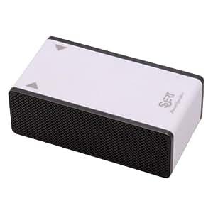 オーム電機 ブーストスピーカー ホワイト SM-SP01-W 15-8002 4582419920392