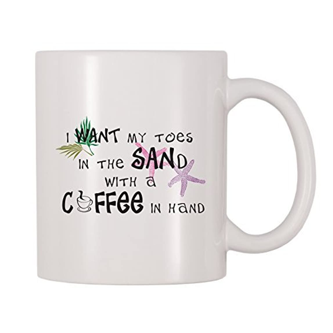 4 All Times I Want My Toes In The Sand With Coffee In Hand (11 oz) [並行輸入品]