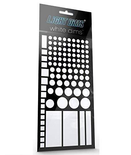 LightDimsホワイトDims – ライト調光LEDカバー/ライト減衰シートforホワイト色付きベビーモニター、煙アラ...