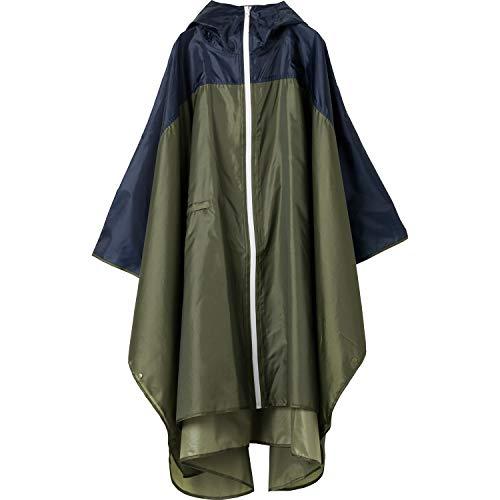 kiu(キウ) レインポンチョ カーキ&ネイビー cm [KiU RAIN PONCHO] K64-161