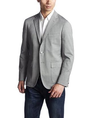 Stretch Chambray Oxford Blazer 3122-186-0384: Grey