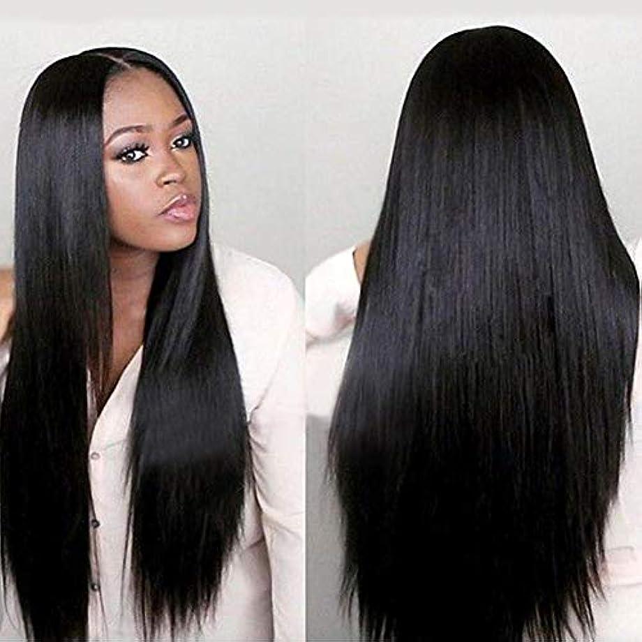 slQinjiansav女性ウィッグ修理ツール女性黒ロングストレートレースフロントローズネット人間の髪の毛ウィッグナチュラルヘアピース