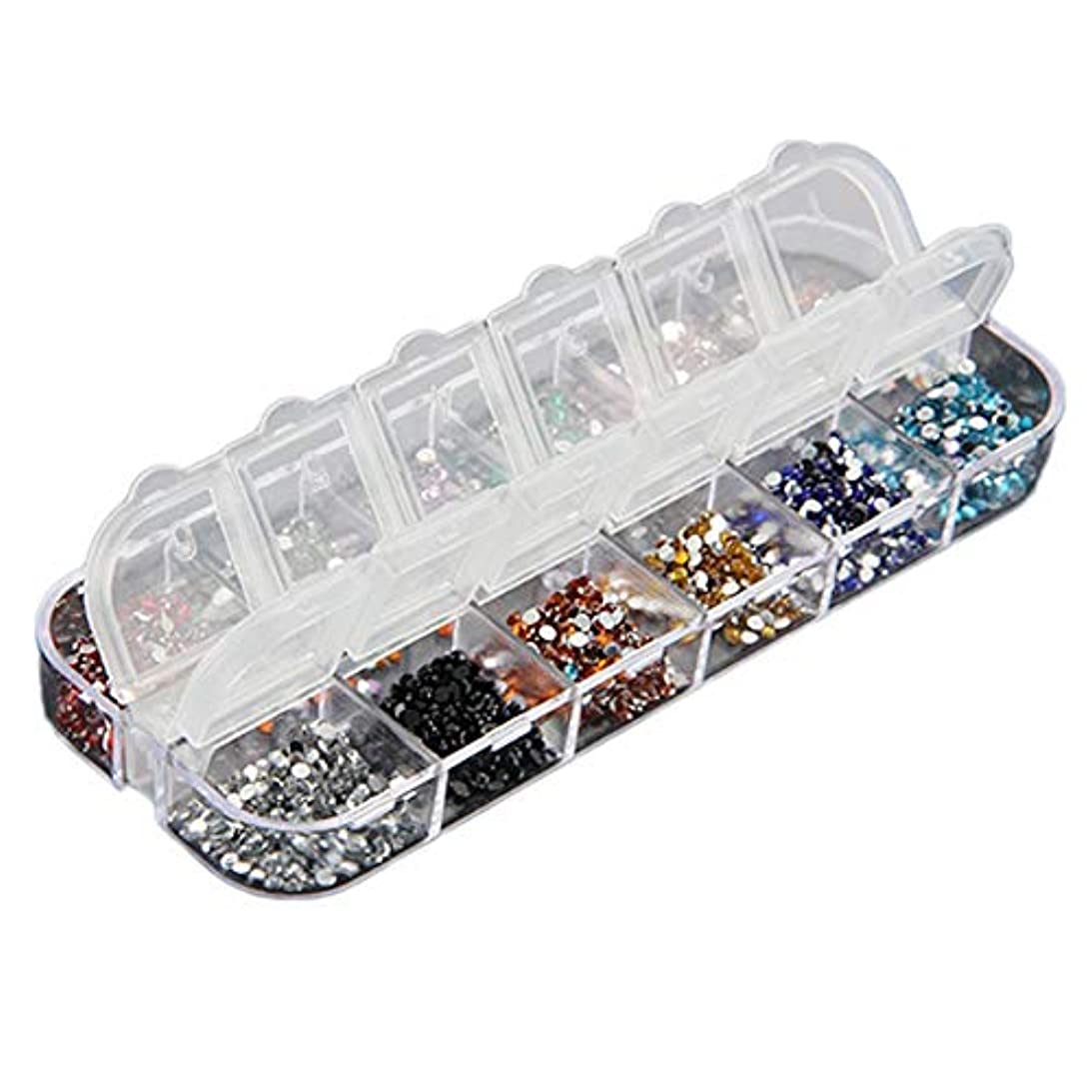 汚染された危機コンソール3000本のネイルラインストーンパックネイル12ネイルネイルカラーネイルアートデコピアス輝く宝石